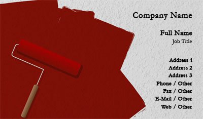 Red Paint Business Card Template